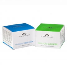 Organics Therapie Skin Brightening Combo- (deep Pore Cleanser & Nourishing Night Cream)