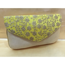 Rise N Shine Yellow Traditional Brocade Slim Clutches