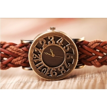Festival Offer New Tan Colour Leather Belt Vintage Stylish Women Analog Watch