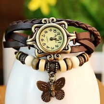 Festival Offer  Brown Casual Analog Leather Women Wrist Watch (original)