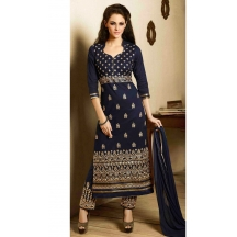 Royalvilla(tm) Panta House-2 701 Navy Blue Salwar Suit