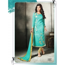 Royalvilla Exclusive New 1007_glam Up Gorgeous Sky Blue Straight Salwar Suit