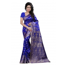 Shree Sanskruti Self Design Banarasi Silk Sari For Women