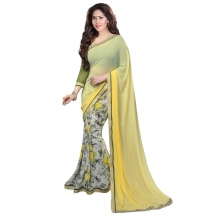 Yellow Georgette Flo...