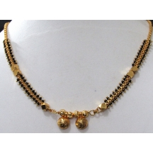 Nice Golden Small Pendant Mangalsutra Necklace