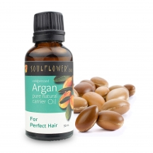 Soulflower Moroccan Argan Carrier Oil - Coldpressed