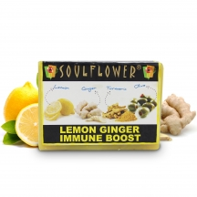 Soulflower Lemon Ginger Immune Boost Soap
