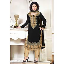 Black Designer Embroidery Salwar Suit