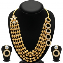 Sukkhi Dazzling Gold Plated Necklace Set For Women 2451ngldpp1050