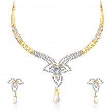 Sukkhi Intricate Gold And Rhodium Plated Cz Neklace Set For Women