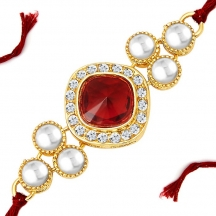 Sukkhi Artistically Gold Plated Designer Kundan Rakhi