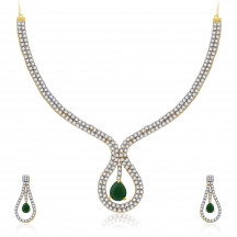 Sukkhi Sublime Gold And Rhodium Plated Cz Neklace Set For Women