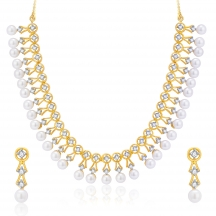 Sukkhi Bewitch Gold And Rhodium Plated Cz Neklace Set For Women