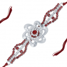 Sukkhi Estonish Rhodium Plated Designer Ad Rakhi