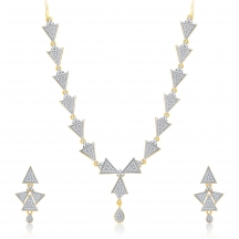 Sukkhi Trendy Gold And Rhodium Plated Cz Neklace Set For Women