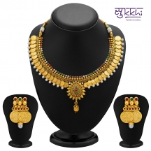 Sukkhi Eye-catchy Gold Plated Temple Jewellery Coin Necklace Set For Women(2115ngldpv2000)