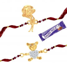 Sukkhi Cz  Studded Mr. Bean And Teddy Bear Rakhi Combo For Kids 142rakhi2cb650