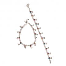 Taj Pearl Stylish Knotted Silver Plated Anklets