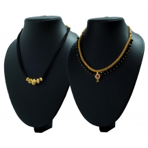 Golden Coloured Combo Pack Of Two Mangalsutras