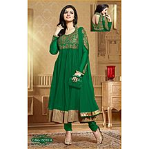 Ayesha Green Embroidered Net Anarkali Suit Semi Stitched