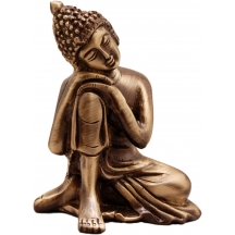 Buddha Resting Antique Brass Showpiece