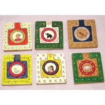 Set Of 12 Piece Small Traditional Painting Make-up Mirror In Different Varities