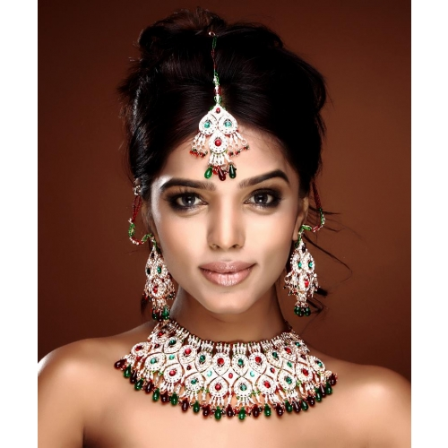Charming Bollywood Latest Indian Fashion Multicolored Patwa Necklace Set