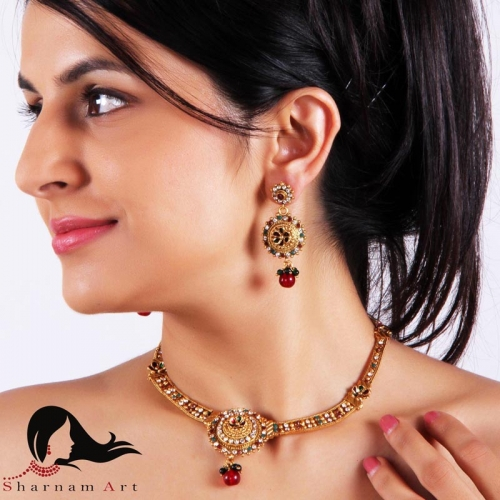 Rich Brass Gold Plated Necklace Set
