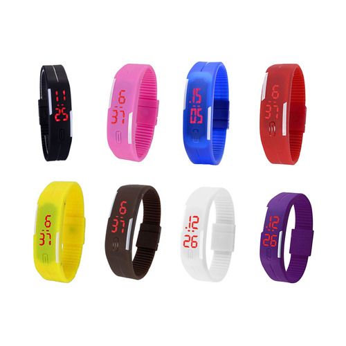 Fap Led Watch Digital Watch 8 Pcs 8 Colour available at Craftsvilla for Rs.800