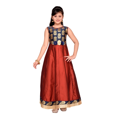 Craftsvilla Maroon Color Gown For Girls