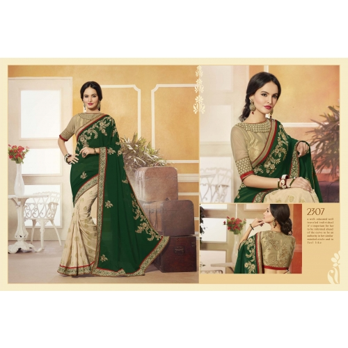 Adityadarshan Creation Designer Party Wear Georgette Saree With Embroidered Designer Blouse. available at Craftsvilla for Rs.4550