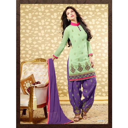 Chanderi patiyala patiala salwar kameez unstitched for Aum indian cuisine