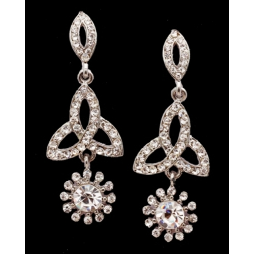 Silver  Ameraican Diamond Earrings - Online Shopping For Earrings By Craft Stages - Online Shopping For Earrings By Craft Stages