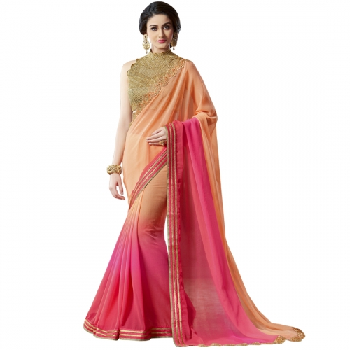 Desginershub New Party Wear Embroidered Designer Saree available at Craftsvilla for Rs.3199