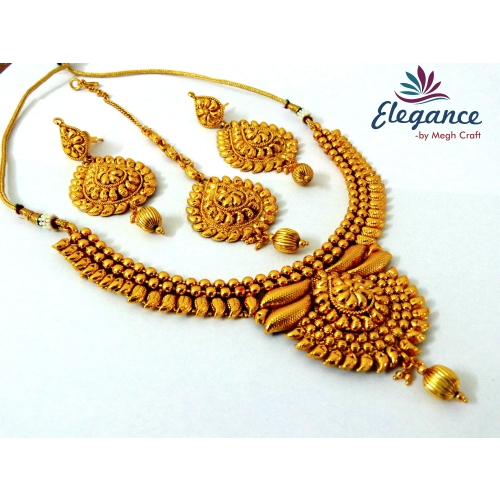 Buy south indian temple one gram gold plated jewelry for East indian jewelry online