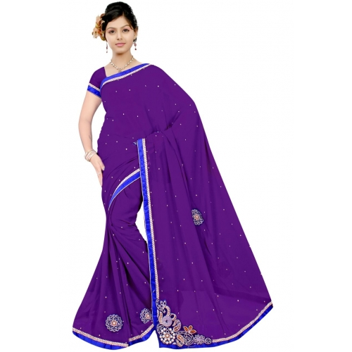 Imani Solid Moti Fashion Saree