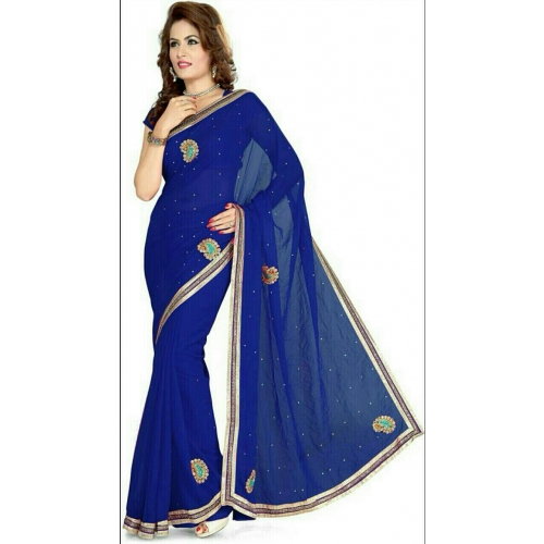 Imani Casual Blue Georgette Saree