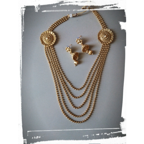 Buy Gold Plated 5 Layers Jewellery Set Wedding Special On