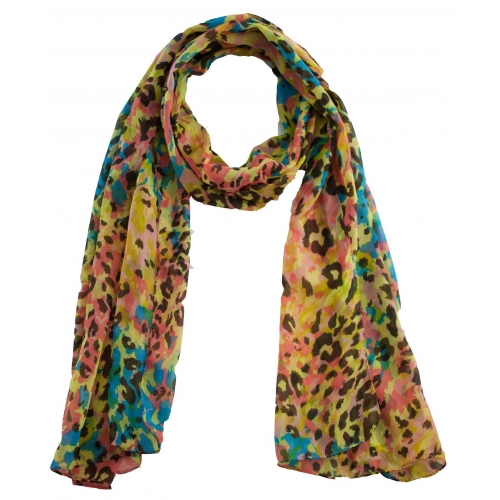 Multicolor Animal Print Scarf - Online Shopping For Scarves By Lotsa Fashion