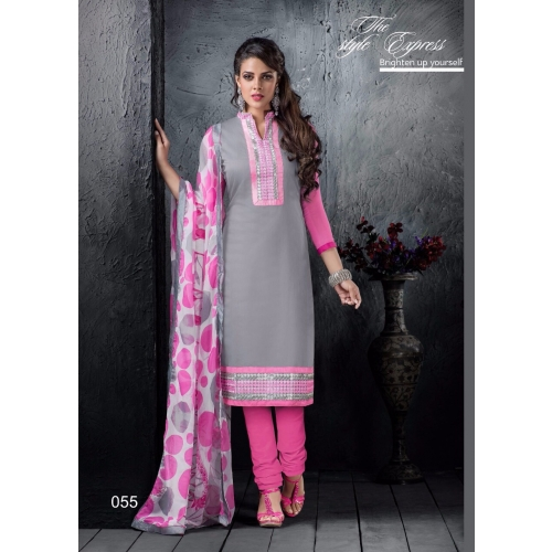 55 Chanderi Cotton Gorgeous Straight Suit Online Shopping