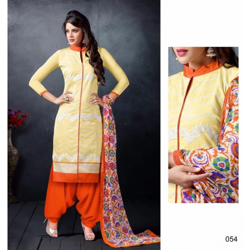 54 Gorgeous Look Chanderi Cotton Party Wear Online Shopping Online