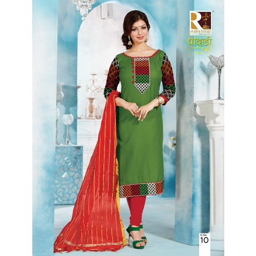 2010 Cotton Embroidery Dress Material