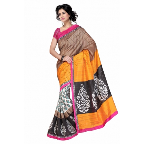 Muta Bhagalpuri Art Silk Saree Pack Of 2
