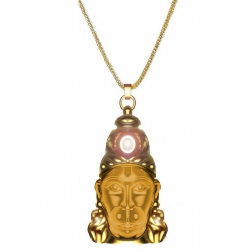 hanuman chalisa yantra with gold platted chain