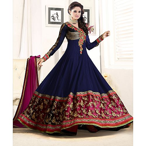 Designer Nevy Blue Anarkali Suit
