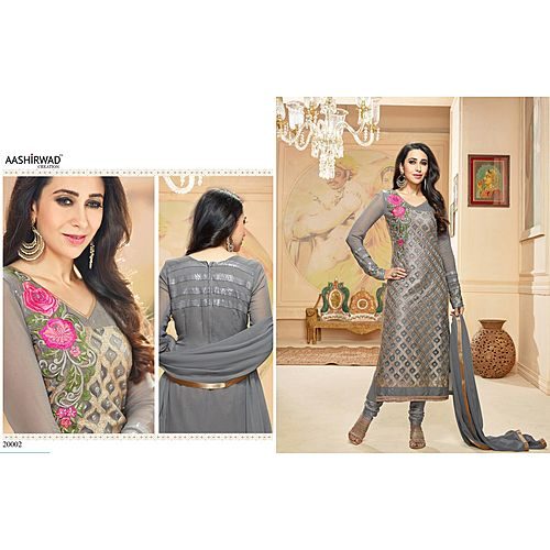 New Designer Karishma Kapoor Bollywood Indian Traditional Partywear Neavy Blue Suit