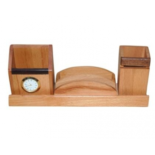 Buy Wooden Pen And Card Mobile Holder With Watch Online Latest Wooden Pen And Card Mobile