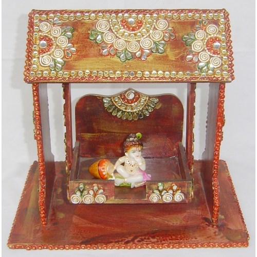 Buy Wooden Decorative Krishna Jhula Online Shopping For
