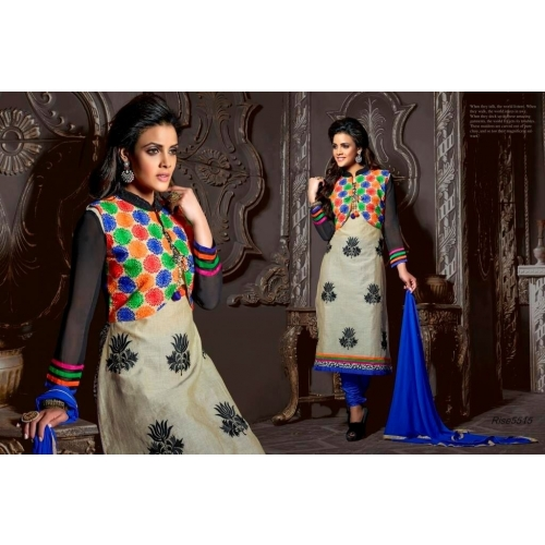 Festival Offer Traditional Chanderi Cotton Salwar Suit With Coti