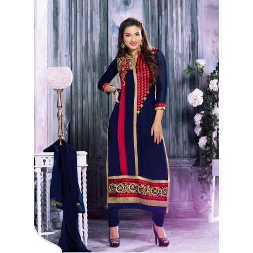 Gohar Khan Designer Blue And Pink Salvar Suit